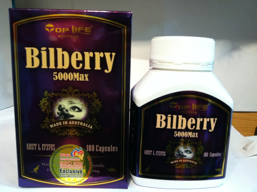 Top Life Bilberry 5000mg 180 Capsules