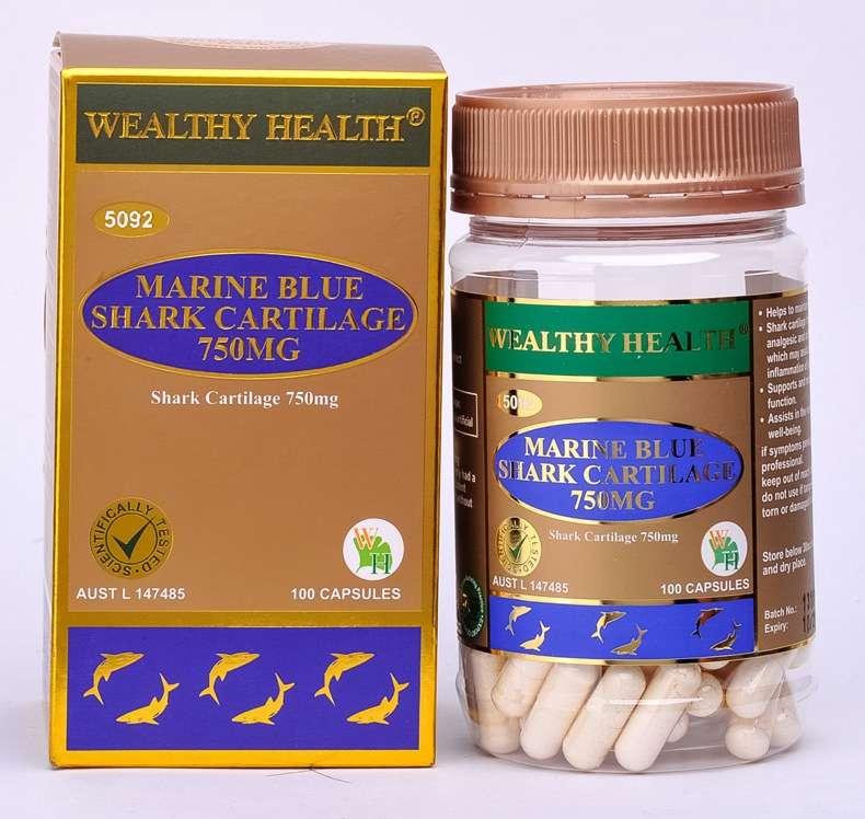 Wealthy Health Marine Blue Shark Cartilage 750g 100 Caps