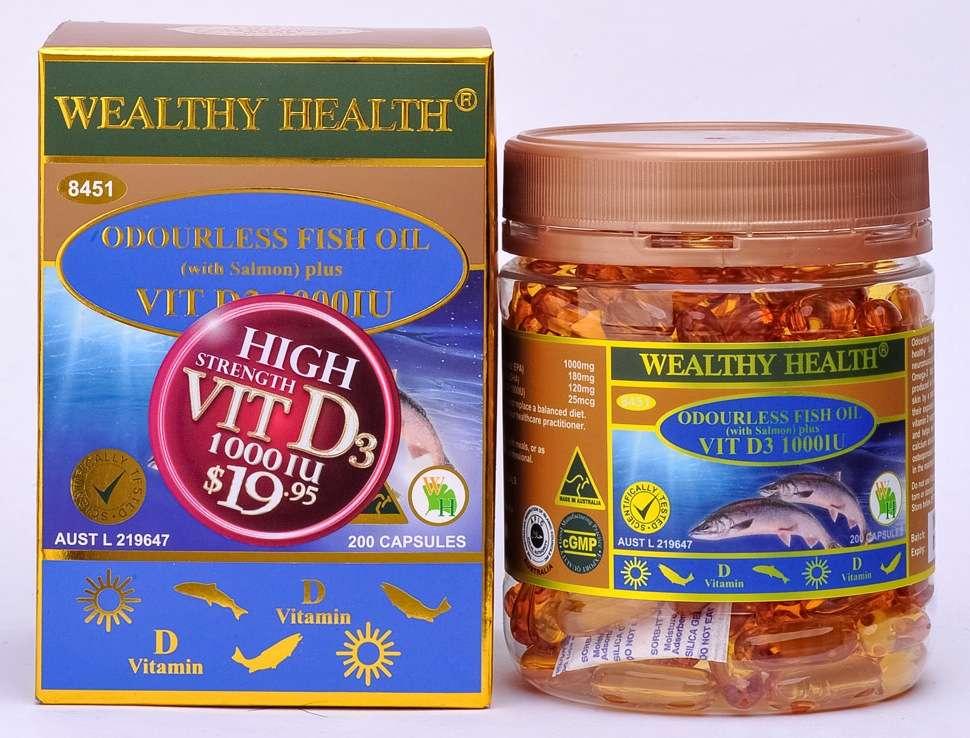 Wealthy Health Odourless Fish Oil 1000 IU