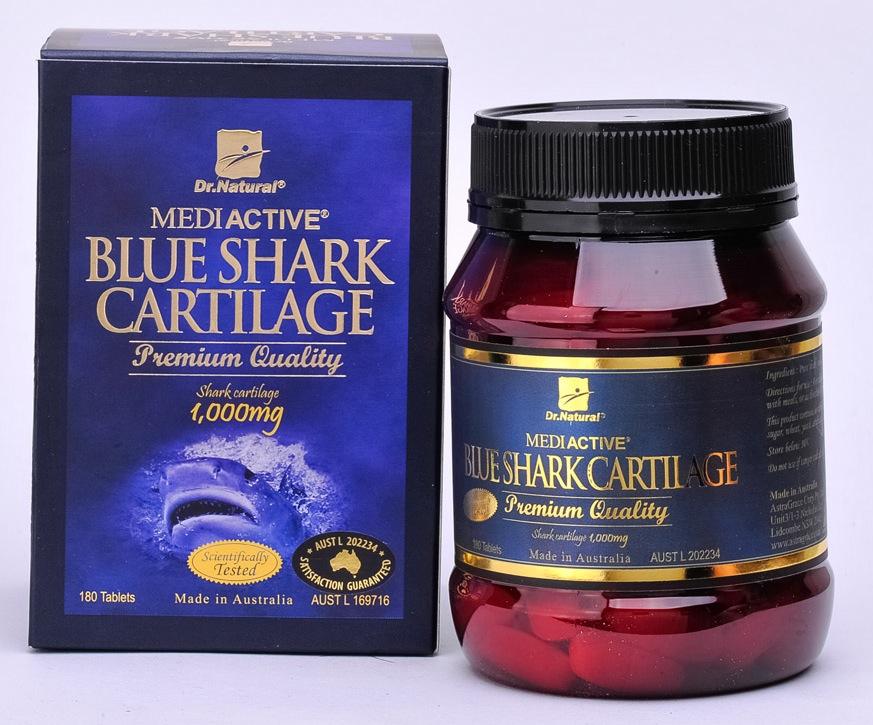 Dr. Natural Blue Shark Cartilage 1000mgDr Natural Blue Shark Cartilage 1000mg