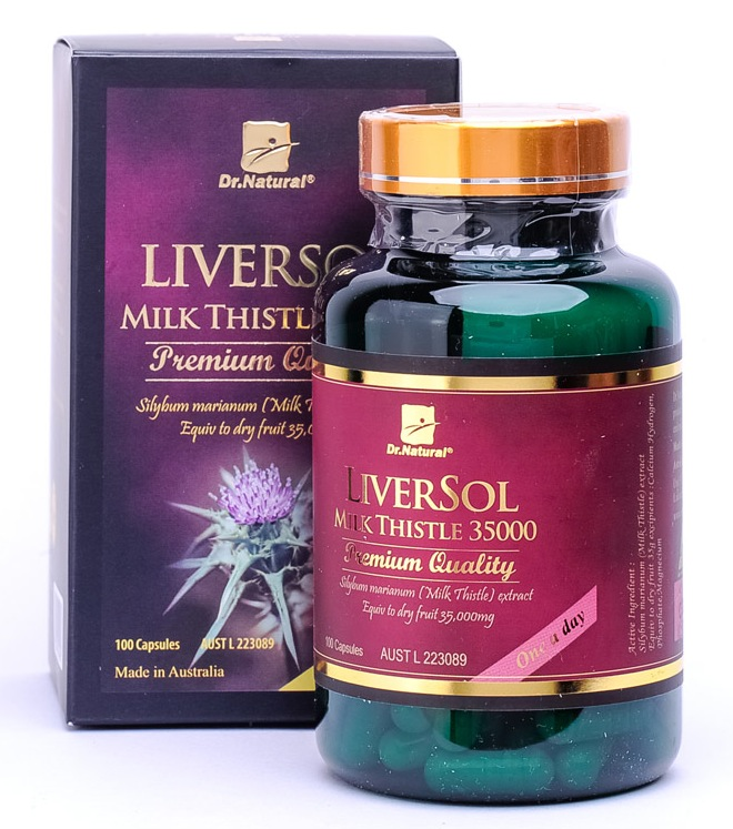 Dr. Natural Liversol Milk Thistle 100 caps