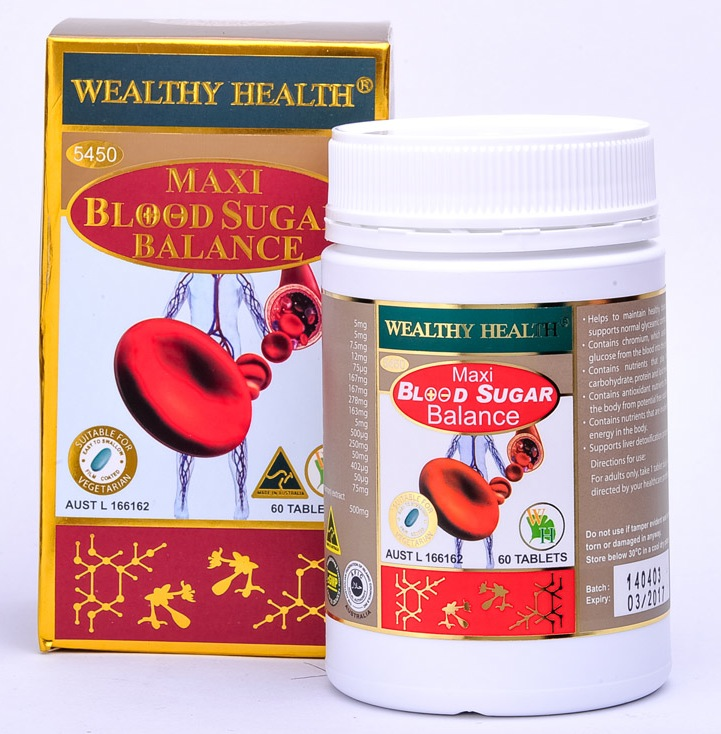 Wealthy Health Maxi Blood Sugar Balance 60 Tablets