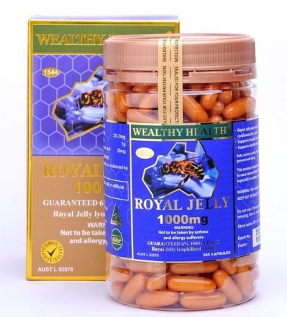 Wealthy Health Royal Jelly 1000mg 365 Caps