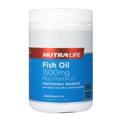 Nutralife-Fish Oil 1500mg Plus Vitamin D 180caps-1